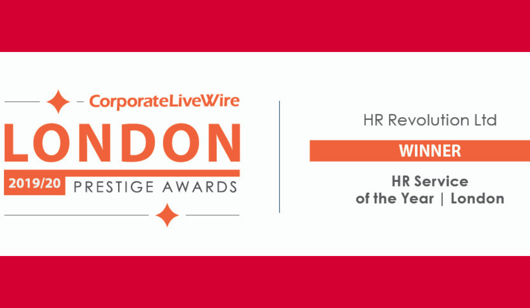 WINNER – HR SERVICE OF THE YEAR – LONDON